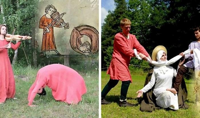 Češki studenti su rekreirali bizarne scene iz srednjovjekovnih knjiga, njihove slike će vas začuditi