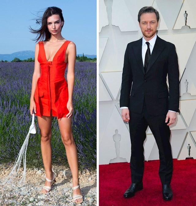Emily Ratajkowski i James McAvoy: 170 cm