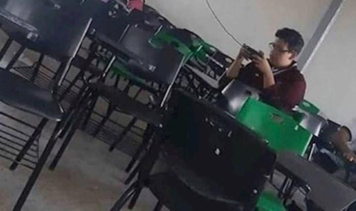 Nitko ne može za ovog učenika reći da nije snalažljiv, pogledajte kako je pronašao rješenje
