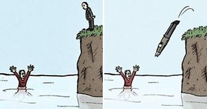 Ako volite crni humor i neočekivane završetke, ove ilustracije će vam se sigurno svidjeti
