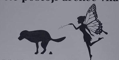 """Hit na društvenim mrežama: Netko je vlasnicima pasa ostavio smiješnu poruku o """"drekec vili"""""""