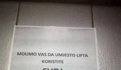 U Hrvatskoj liftovi služe za zaista puno toga. Neki se njime penju na gornje katove, a neki...