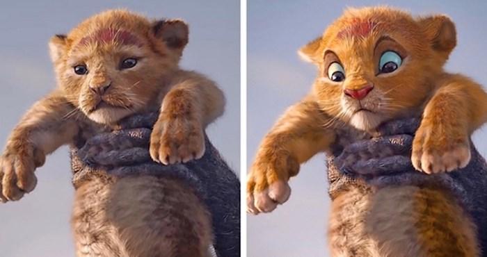 """Netko je svojim detaljima uljepšao likove iz """"Kralja lavova"""", mnogi kažu da izgledaju bolje od originala"""