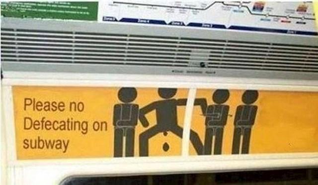 Ne možemo vjerovati da postoji potreba za ovim znakom.