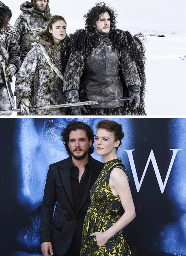 Rose Leslie i Kit Harrington (Igra prijestolja)