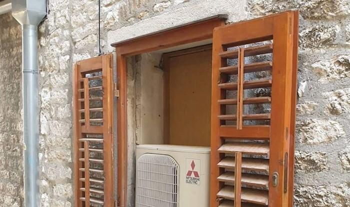 Netko je u Šibeniku odabrao zanimljiv način ugradnje klima uređaja