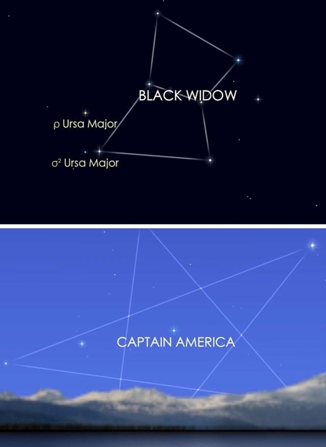 Postoje zviježđa nazvana prema Osvetnicima.