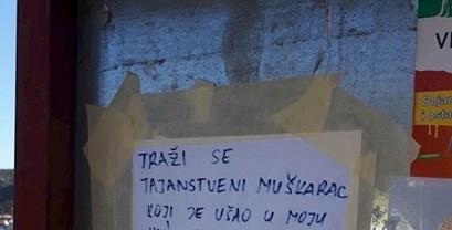 Dalmatinka traži nepoznatog lika koji joj je ušao u kuću, nešto joj je ostavio