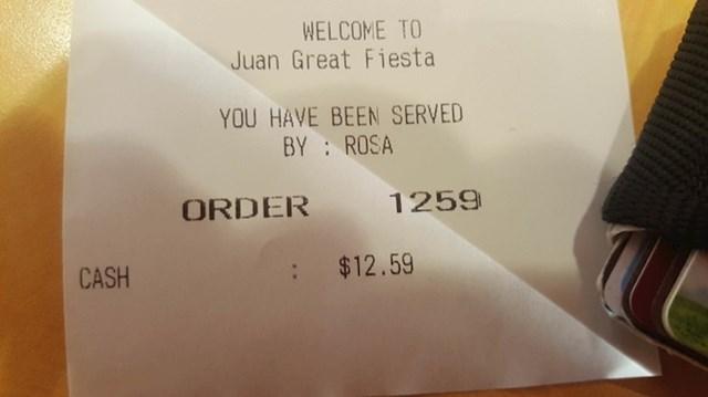 """""""Broj moje narudžbe savršeno se uklopio u cijenu koju sam platio za hranu."""""""