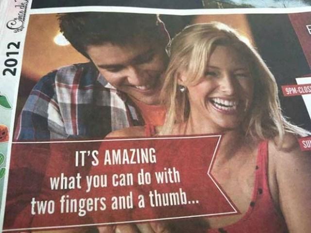 """#15 """"Nevjerojatno je što sve možeš raditi s dva prsta i jednim palcem..."""""""
