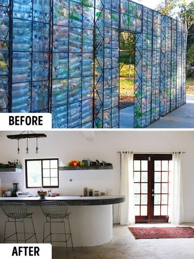 Čovjek je skupio veliku količinu boca pa napravio kuću sa zidovima od upravo tih plastičnih boca koje je skupio.