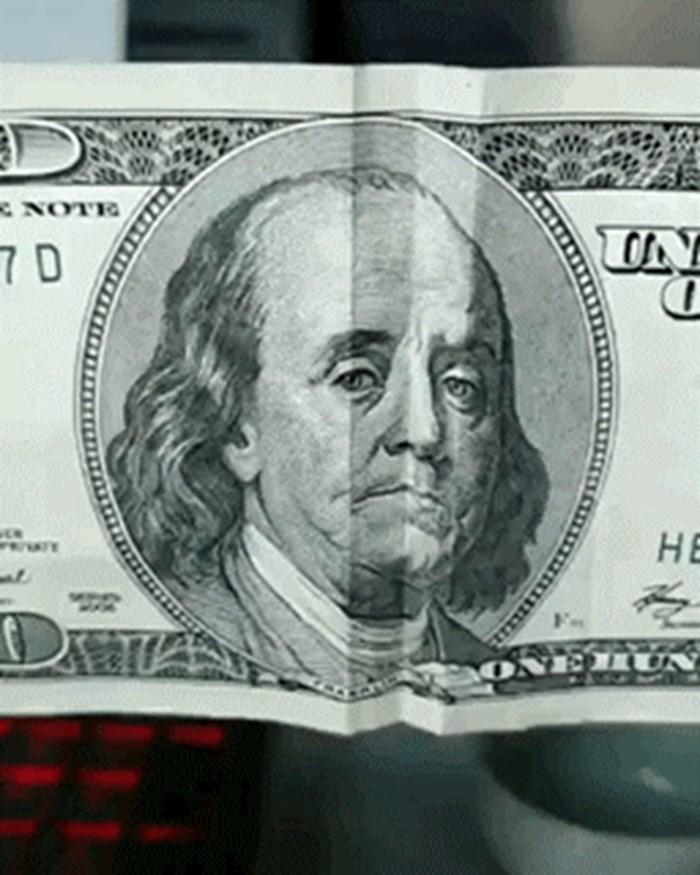 Uzeo je novčanice, savijao ih pa napravio nešto što će vam se svidjeti