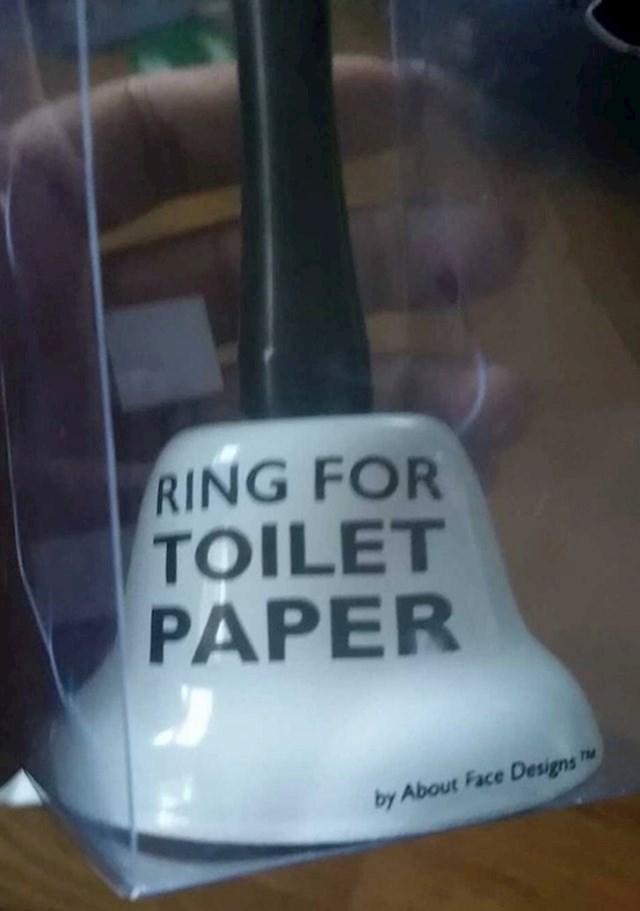 """""""Od roditelja sam za 21. rođendan dobio zvono koje mogu koristiti da ih zovem ako nestane WC papira."""""""