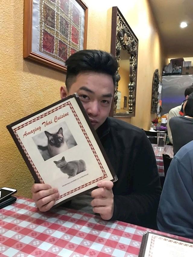 Pogledajte što su stavili na koricama jelovnika u jednom tajlandskom restoranu. :(