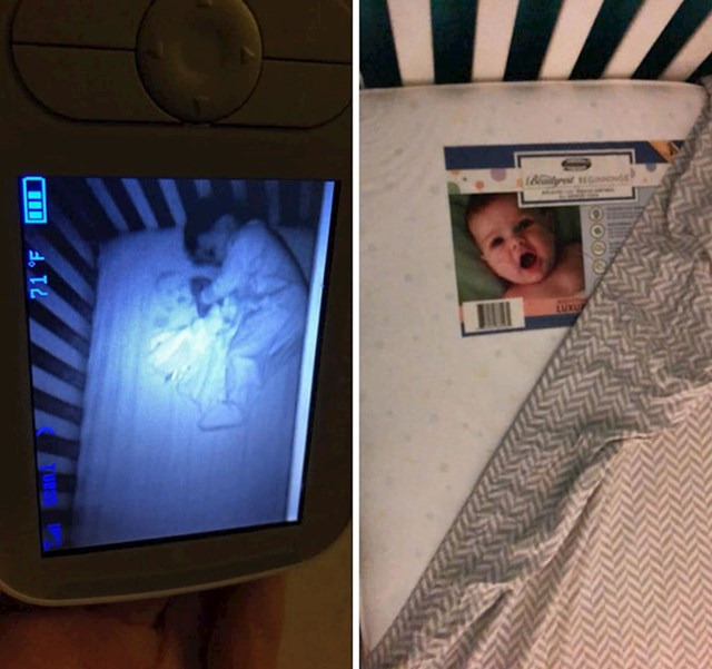 Trebalo im je malo vremena da shvate tko je beba-duh koju su vidjeli na noćnoj kameri...