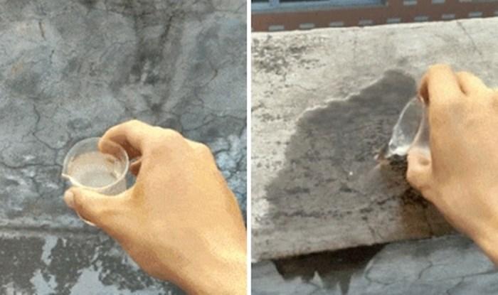 Uzeo je čašicu vode, prolio je po betonu i napravio genijalnu fotku