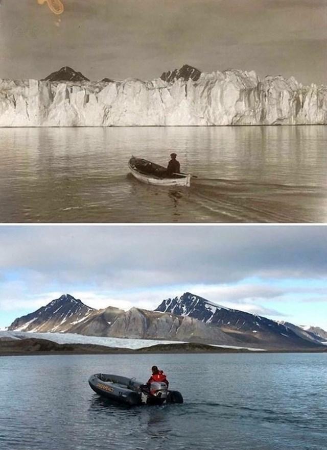 Arktik prije 104 godine i danas