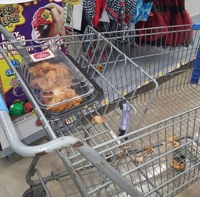 Netko je bio jako gladan...