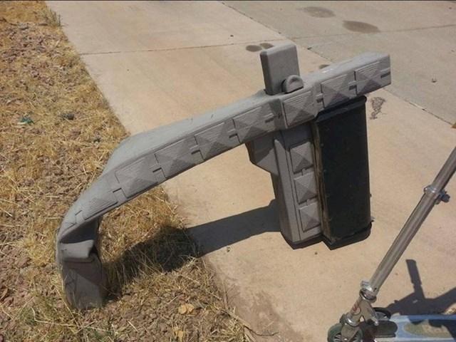 Plastični stup poštanskog sandučića se istopio (Arizona, SAD).
