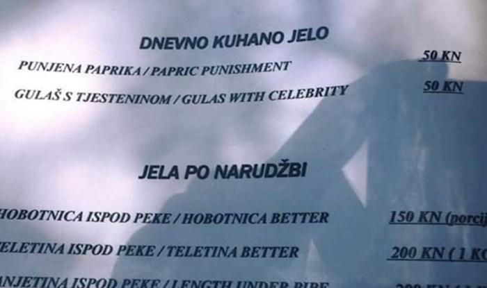 Restoran se osramotio jelovnikom kojeg bi i Google Translate bolje preveo