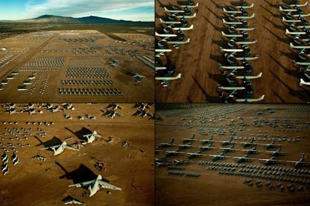 """Ovako izgleda """"groblje za zrakoplove""""."""