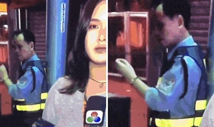 Lik je ukrao show novinarki, kamera ga je uhvatila na krivom mjestu u krivo vrijeme