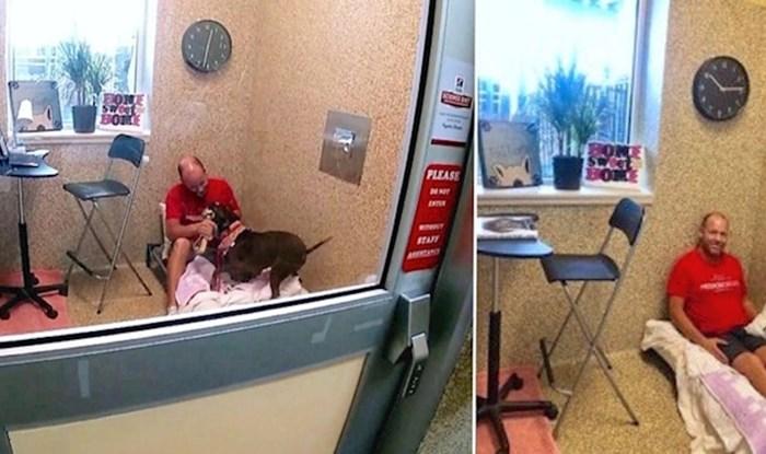 VIDEO Muškarac se uselio u sklonište za životinje, ne želi otići dok ne nađe novi dom za ovu kujicu