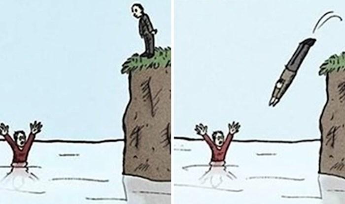 Ljubitelji crnog humora i neočekivanih završetaka će uživati u ovim ilustracijama
