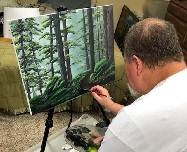 """""""Tata se nije bavio slikanjem više od 30 godina. Sad je u mirovini pa se odlučio opet baviti starim hobijem."""""""