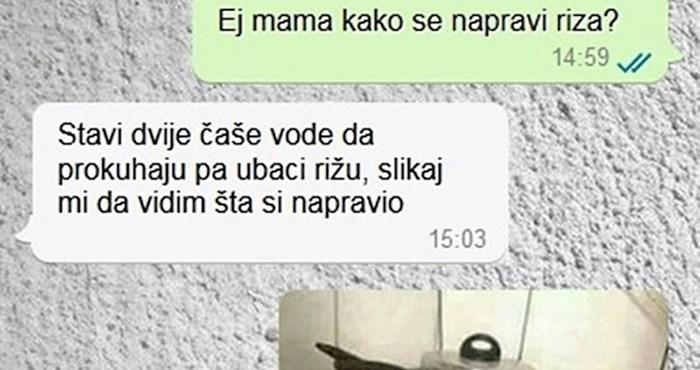 Mama je sinu dala upute kako skuhati rižu, on ju je šokirao fotkom koju je slikao u kuhinji