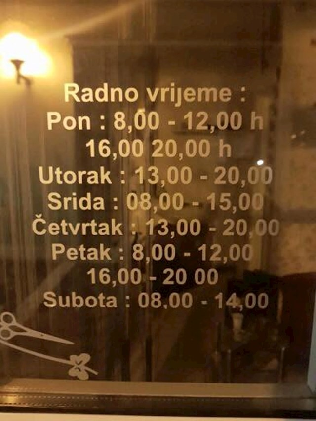 Jeste li ikad vidjeli ovakav raspored?