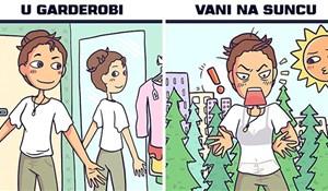 Djevojka zanimljivim stripovima prikazuje čudne situacije iz svakodnevnog života