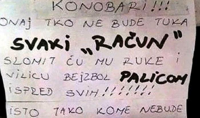 Šef iz Dalmacije svojim je konobarima napisao poruku nakon koje će dobro razmisliti