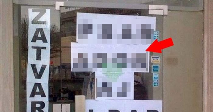 Radnica je s unutarnje strane izloga postavljala natpis, nije primijetila smiješnu pogrešku