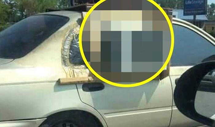Vozač je na cesti slikao totalnu ludost, na nečijem autu je ugledao bizaran izum