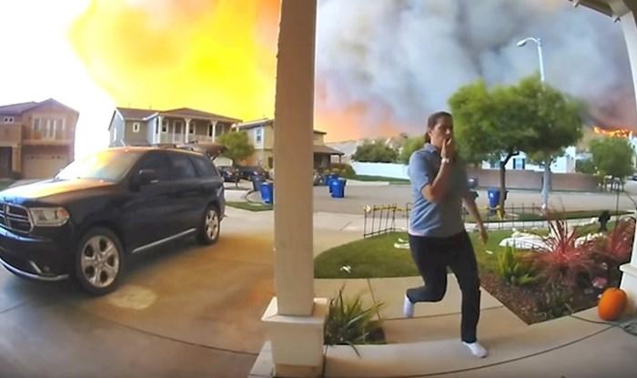 Mama trči, djeca plaču: Kamera na vratima snimila je trenutak kada je obitelj morala napustiti svoj dom