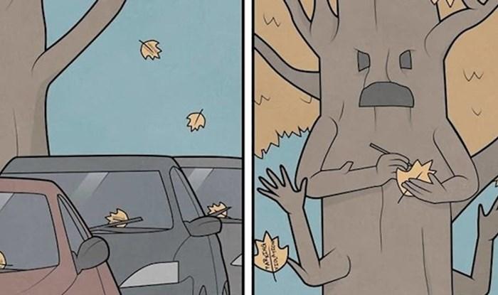 Rus crta sarkastične ilustracije koje ćete morati dobro pogledati kako biste ih razumjeli