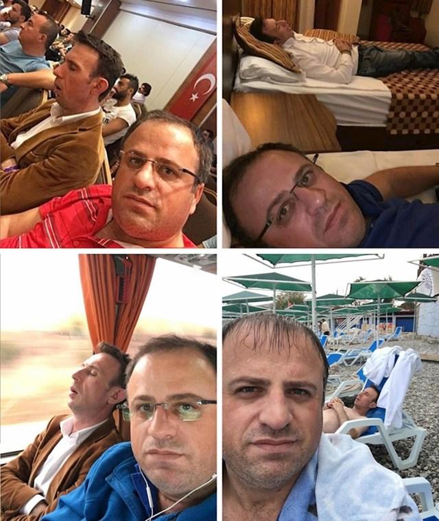Išao je na poslovni put pa slikao koliko mu je bilo zanimljivo s kolegom koji je stalno spavao.