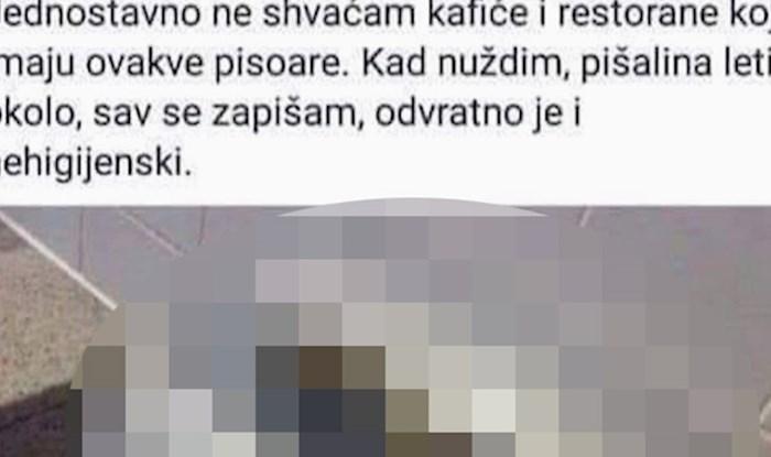 """""""Zbunjeni"""" muškarac objavio je fotku iz muškog WC-a i napisao tekst koji je nasmijao društvene mreže"""
