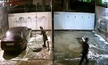 Ženi je dao da sama opere auto u autopraonici, kamera je snimila urnebesnu scenu