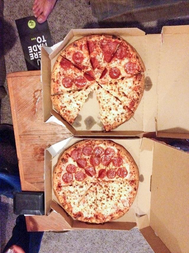 Možda su jednostavno mogli naručiti dvije iste pizze?