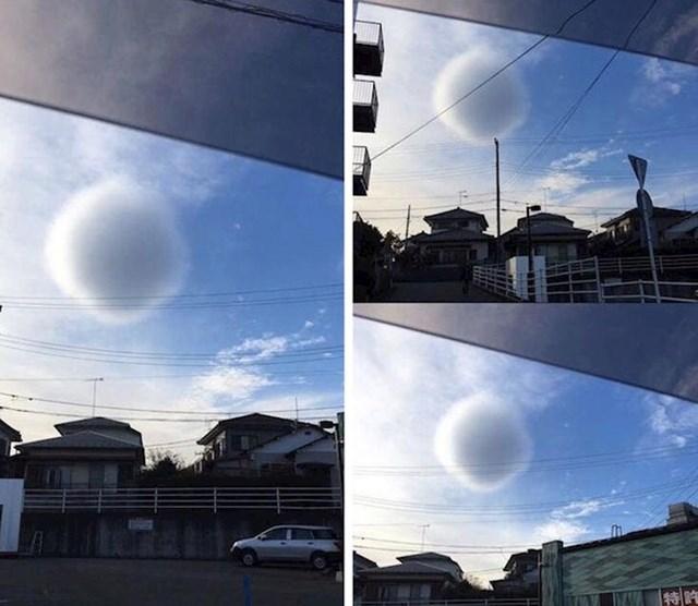 Ne, ovo nije nikakav NLO. Ovo je samo rijetki oblak sfernog oblika.