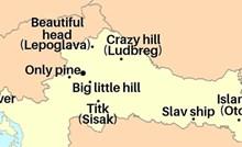 Smijat ćete se kad vidite kartu Hrvatske s doslovnim engleskim prijevodima imena gradova