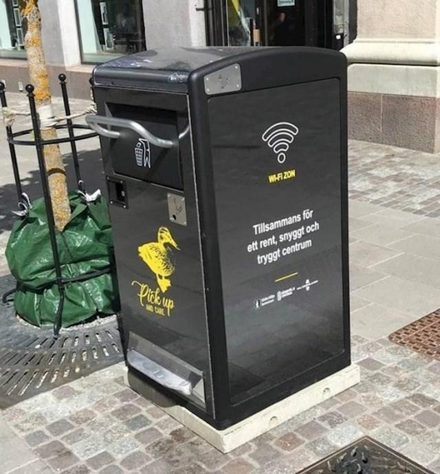 U Švedskoj postoje kante za smeće s WiFi-jem. Cilj je privući ljude da se približe i usput bace svoje smeće.