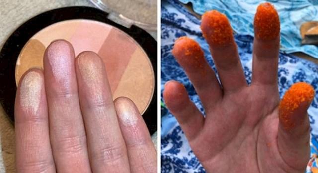 One koje imaju šminku na prstima i one koje... ah...