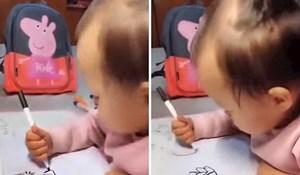 VIDEO Klinkica uzela flomaster i ostavila roditelje bez teksta, nećete vjerovati svojim očima kad vidite kako crta