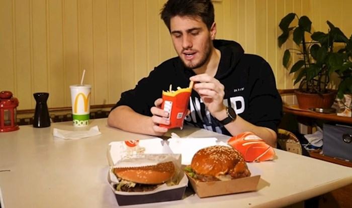 VIDEO Je li bolji McDonald'sov ili obični burger? Naručio je oba i napravio usporedbu