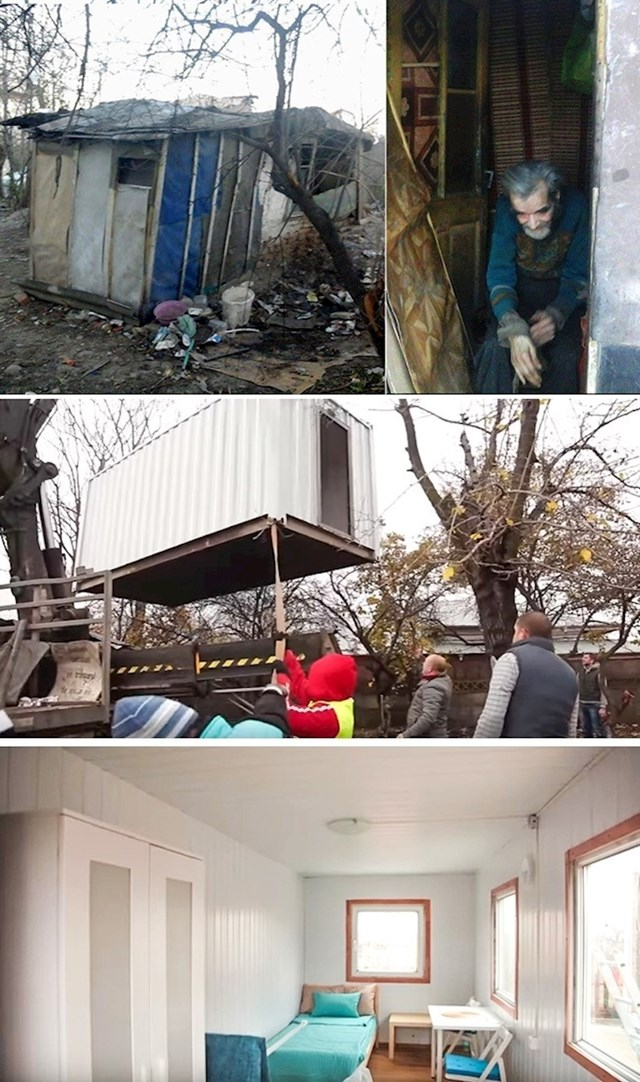 Skupili su novac kako bi starcu sagradili novu kućicu