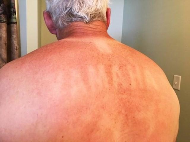 """""""Moj djed je vani radio na suncu. Nosio je svijetlu majicu s crnim natpisom 'YAMAHA'. Evo što mu se dogodilo."""""""