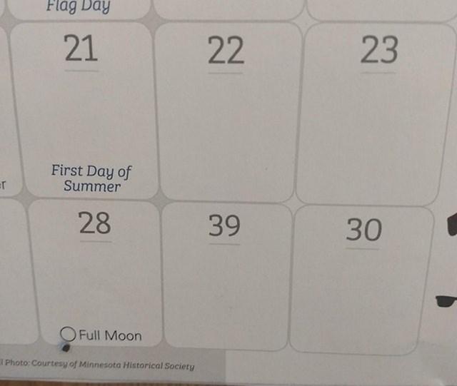 Trebali su pregledati ovaj kalendar.